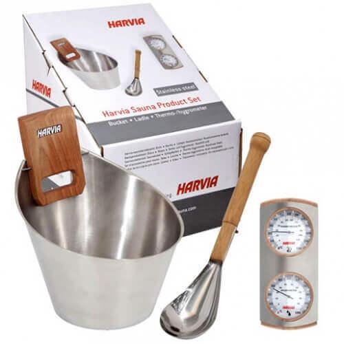 Kit d'accessoires en inox pour sauna