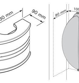 LAMPE POUR SAUNA AVEC ABAT-JOUR INOX/BOIS